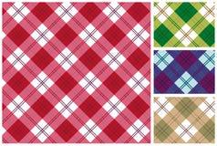 Reeks van Schotse stijltextiel Royalty-vrije Stock Afbeeldingen