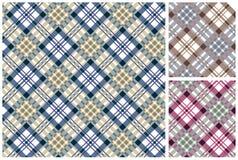 Reeks van Schotse stijltextiel Stock Foto's