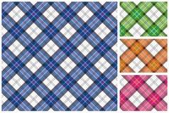 Reeks van Schotse stijltextiel Royalty-vrije Stock Foto's