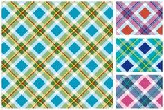Reeks van Schotse stijltextiel Royalty-vrije Stock Fotografie