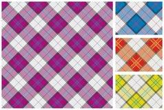 Reeks van Schotse stijltextiel Stock Fotografie