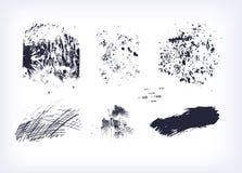 Reeks van slag van de texturen de vector geïsoleerde inzameling stock illustratie