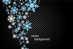Reeks van sneeuwvlokkenachtergrond Royalty-vrije Stock Afbeeldingen