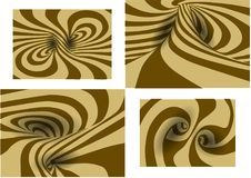Reeks van spiraalvormige achtergrond Royalty-vrije Stock Fotografie
