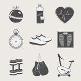 Reeks van sport en fitness Royalty-vrije Stock Afbeelding