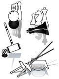 Reeks van sportenillustratie. Stock Afbeeldingen