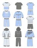 Reeks van sportkleding voor jongens Stock Foto's