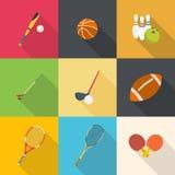 Reeks van sportmateriaal Royalty-vrije Stock Afbeelding