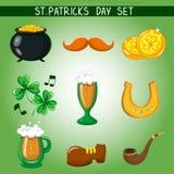 Reeks van St Patrick Dag voorwerp stock illustratie