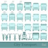 Reeks van stadsvervoer Stock Afbeeldingen
