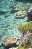 Reeks van steen overzees strand Stock Afbeelding