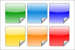 Reeks van sticker Royalty-vrije Stock Afbeeldingen