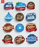 Reeks van 16 stickers Stock Foto