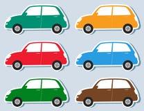 Reeks van stickers retro auto Royalty-vrije Stock Foto's