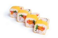 Reeks van sushimaki Stock Afbeelding