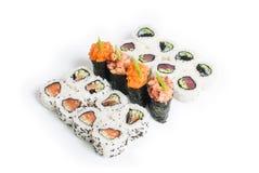Reeks van sushimaki Royalty-vrije Stock Afbeeldingen