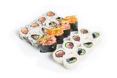 Reeks van sushimaki Royalty-vrije Stock Fotografie