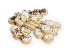 Reeks van sushimaki Royalty-vrije Stock Foto's