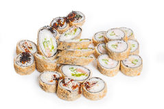 Reeks van sushimaki Stock Foto's