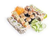 Reeks van sushimaki Royalty-vrije Stock Afbeelding