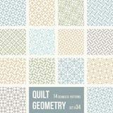 Reeks van 12 tegels met geometrische patronen royalty-vrije illustratie