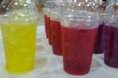 Reeks van Thaise bevroren drank tijdens conferentie stock afbeeldingen