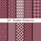 Reeks van tien Arabische patronen royalty-vrije illustratie