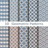 Reeks van tien geometrische patronen Royalty-vrije Stock Foto's