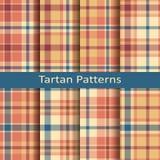 Reeks van tien naadloze vector kleurrijke Schotse geruit Schots wollen stofpatronen Stock Fotografie