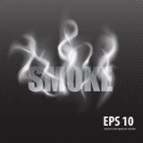 Reeks van transparante rook op een plaidachtergrond Royalty-vrije Stock Foto