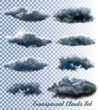 Reeks van transparante wolken en rook royalty-vrije illustratie