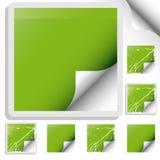 Reeks van trendy sticker Stock Fotografie