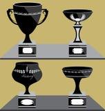 Reeks van Trofeeënpictogram Stock Afbeeldingen