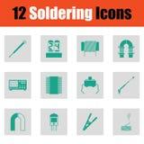 Reeks van twaalf solderende pictogrammen Royalty-vrije Stock Fotografie