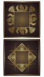 Reeks van twee bloemenkaarten Royalty-vrije Stock Afbeelding