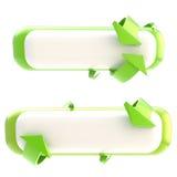 Reeks van twee geïsoleerdee bannerknopen Stock Afbeelding