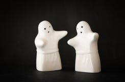 Reeks van twee Halloween-spoken en zwarte achtergrond Royalty-vrije Stock Foto's
