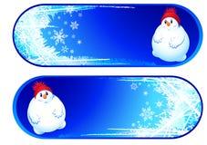 Reeks van twee Kerstmisbanners Royalty-vrije Stock Foto