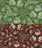 Reeks van twee kleurrijke naadloze patronen. Eps-8. Stock Foto's