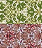 Reeks van twee kleurrijke naadloze patronen. Eps-8. Royalty-vrije Stock Afbeelding