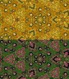 Reeks van twee kleurrijke naadloze patronen. Eps-8. Royalty-vrije Stock Afbeeldingen