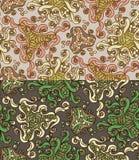 Reeks van twee kleurrijke naadloze patronen Eps-8 Stock Foto's