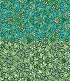 Reeks van twee kleurrijke naadloze patronen Eps-8 Royalty-vrije Stock Fotografie
