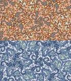Reeks van twee kleurrijke naadloze patronen Eps-8 Stock Afbeeldingen