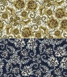 Reeks van twee kleurrijke naadloze patronen Eps-8 Stock Fotografie