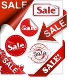 Reeks van twee linten met nieuwe woorden en verkoop Royalty-vrije Stock Afbeelding