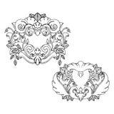 Reeks van twee mooie tatoegeringskaders Vector Illustratie