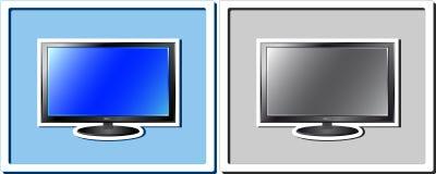 Reeks van twee stickers van TV Royalty-vrije Stock Foto