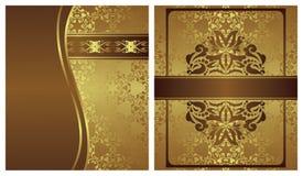 Reeks van twee uitnodigingen royalty-vrije illustratie