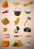 Reeks van twintig dingenreis Stock Fotografie
